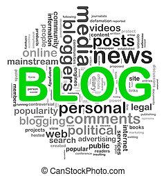 blog, disegno, circolare, parola, etichette