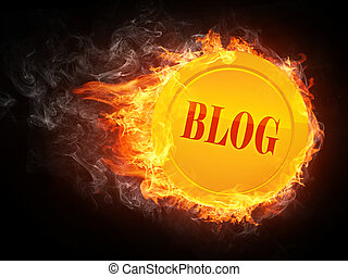 Blog in Fire. Computer Graphics.