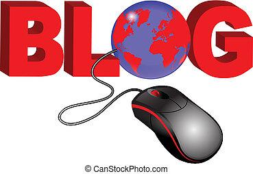 blog, globe