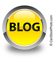 Blog glossy yellow round button