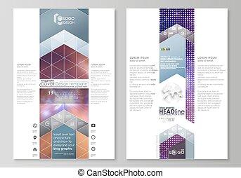 blog, graphique, business, templates., page, site web, gabarit, facile, editable, résumé, vecteur, layout., couleur claire, coloré, conception, beau, futuriste, arrière-plan.