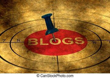 blog, grunge, cible