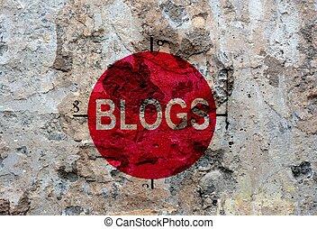 Blog grunge concept