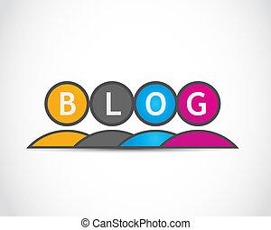 blog, grupo, pessoas