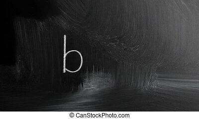 Blog Handwritten With White Chalk O