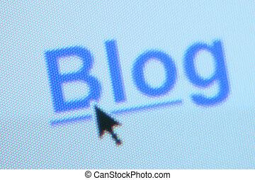 'Blog' hyperlink - Shallow depth of field on part of a blog ...
