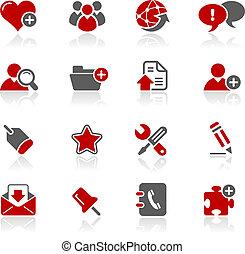 blog, &, icônes internet, /, redico