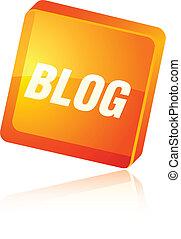 Blog icon. - Blog beautiful icon. Vector illustration.