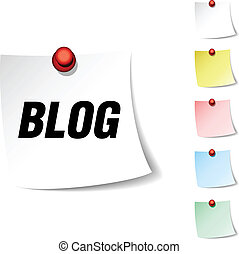 Blog icon. - Blog sheet icon. Vector illustration.