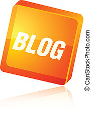 blog, icon.