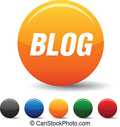 blog, icons.