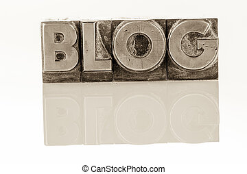 blog in lead letters - the word blog written with lead ...