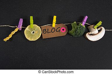 blog, inscriptie, geschreven, label, papier