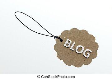 blog, interpretación, palabra, 3d