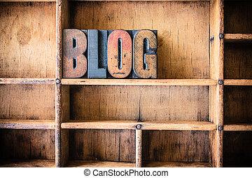 blog, legno, tema, concetto, letterpress