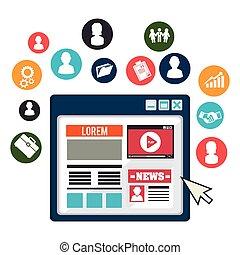 blog, média, blogger, social