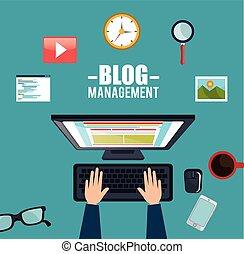 blog, média, vezetőség, társadalmi