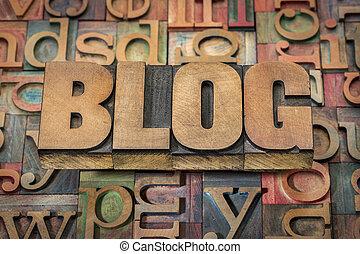 blog, madera de palabra, tipo