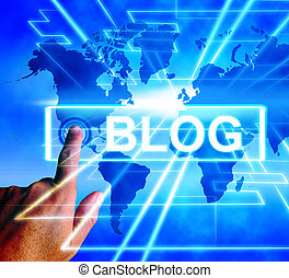 Blog Map Displays Internet or Worldwide Blogging - Blog Map...