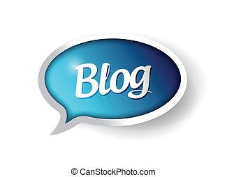 blog message communication bubble