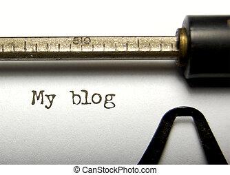 Blog - My blog written on an old typewriter