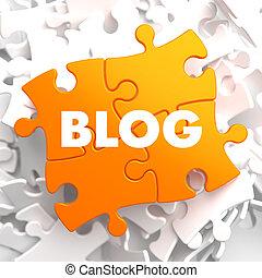Blog on Orange Puzzle. - Blog on Orange Puzzle on White...