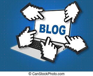 blog, pojęcie, -, internet