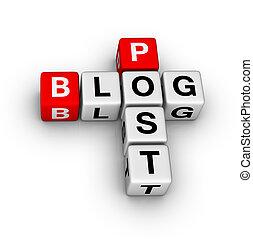 blog, post
