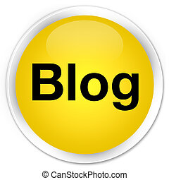 Blog premium yellow round button