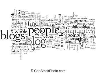 Blog Problems text background wordcloud concept