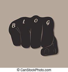 blog, pugno