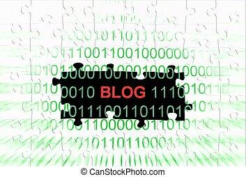 Blog puzzle concept