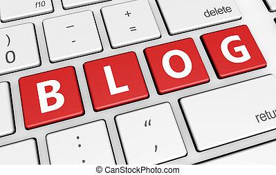 Blog Sign Pc Keyboard