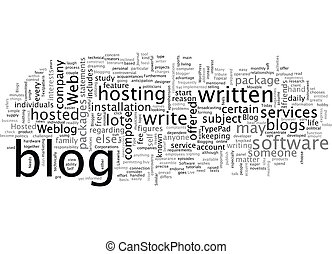 blog sofware text background wordcloud concept