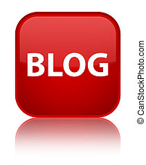 Blog special red square button - Blog isolated on special ...