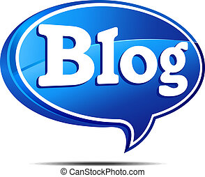 Blog Speech Bubble - 3D Blog Icon Speech bubble