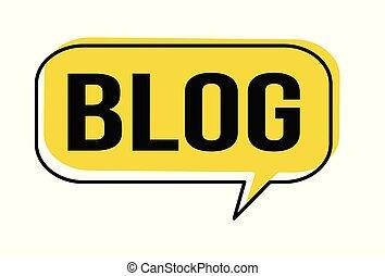 Blog speech bubble on white