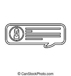 blog, sprechblase, ikone
