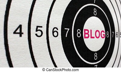 Blog target concept dolly shot