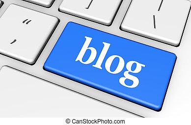 blog, tela, llave