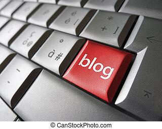 blog, toile, concept, clã©