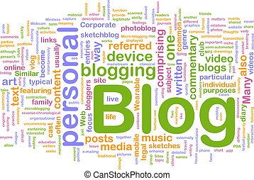 blog, toile, concept, fond