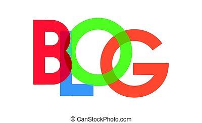 blog, transparant, carta, colorido