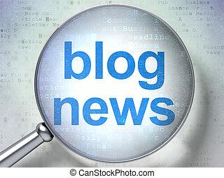 blog, verre, optique, concept:, nouvelles