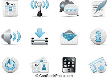 blog, web, set, pictogram