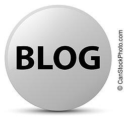 Blog white round button