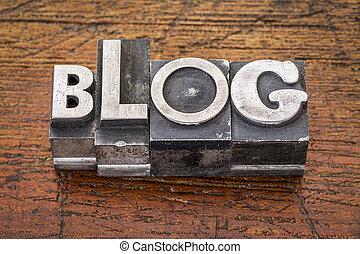 blog word in metal