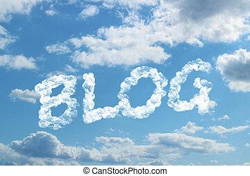 Blog word on cloud