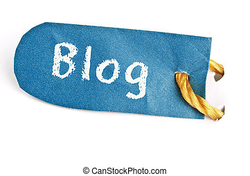 Blog word on label