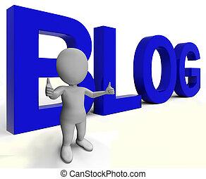 Blog Word Shows Blogger Website And Blogging - Blog Word For...